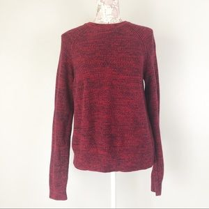 Banana Republic heavy knit sweater red marbled